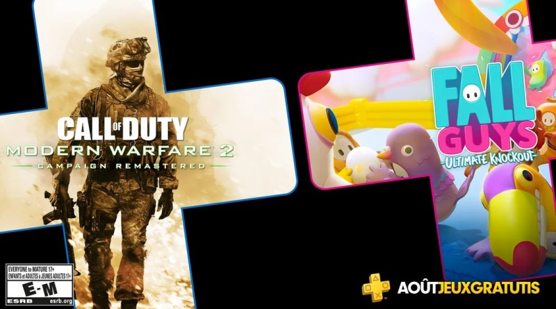 jeux PS Plus aout 2020 fall guys gratuit