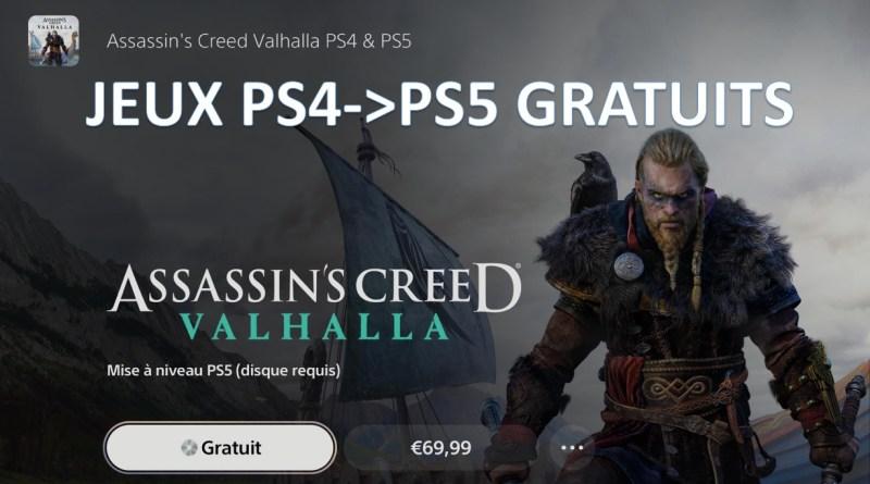 Tuto version ps5 gratuit des jeux PS4