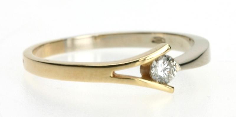 Gouden Sieraden  Gouden Ring  Dames Ring met Briljant