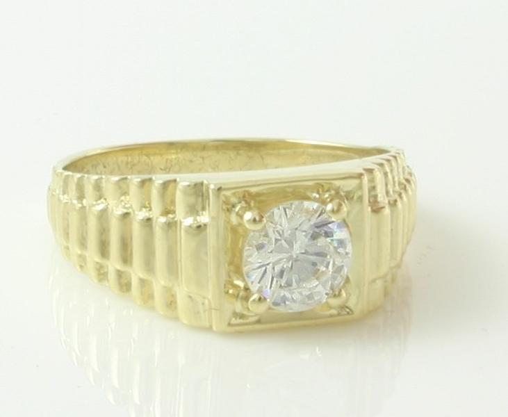 Gouden Sieraden  Gouden Ring  Heren Pinkring  Heren