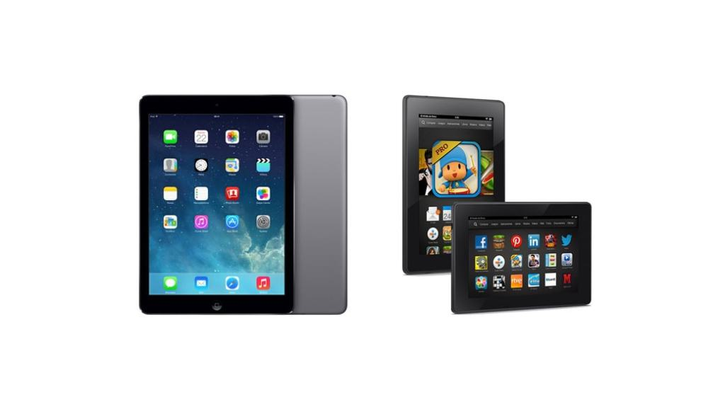 Apple iPad Air vs. Amazon Kindle Fire HDX 8.9″