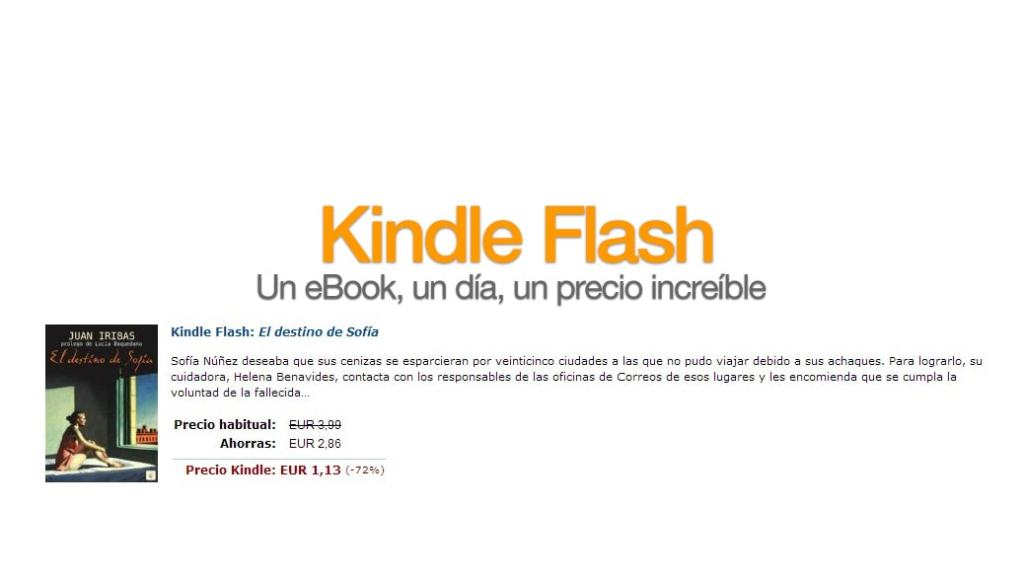 kindle flash ofertas ebooks
