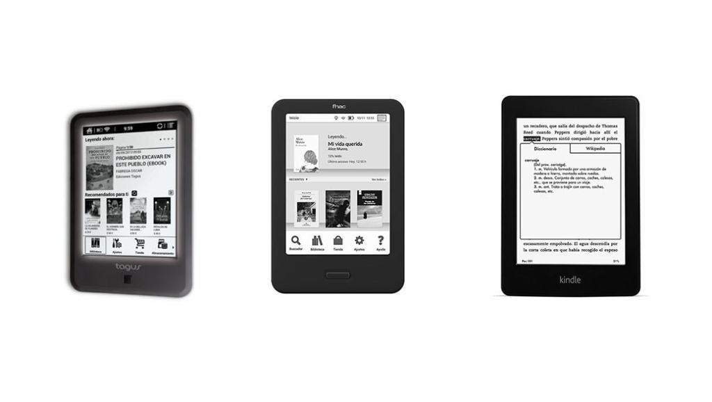 Fnac Touch Light vs Tagus Lux vs Kindle Paperwhite: Comparativa eBooks