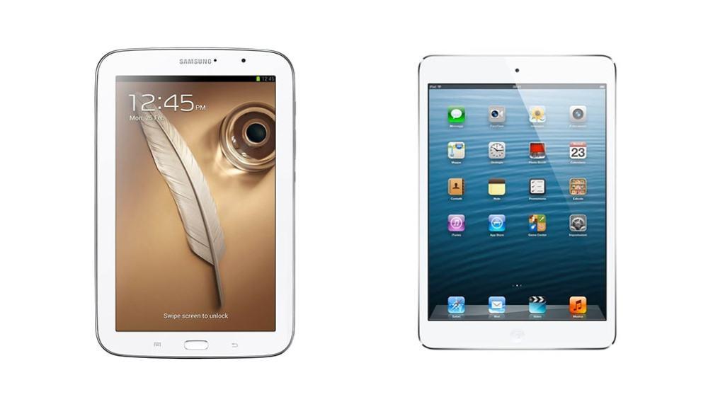 Comparativa de tablets: Samsung Galaxy Note 8.0 vs iPad mini de Apple