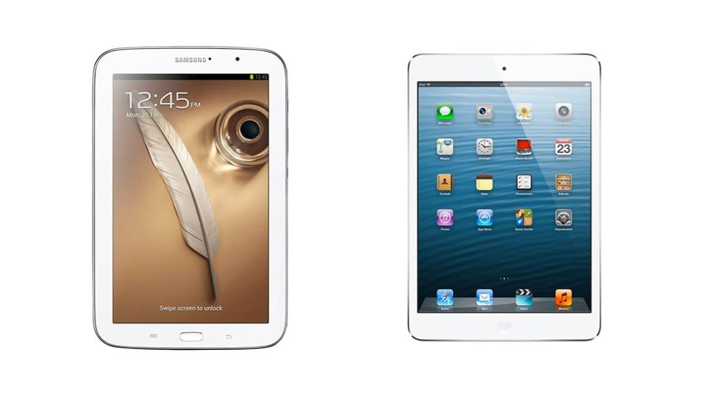 Comparativa de tablets: Samsung Galaxy Note 8.0 vs iPad mini de Apple