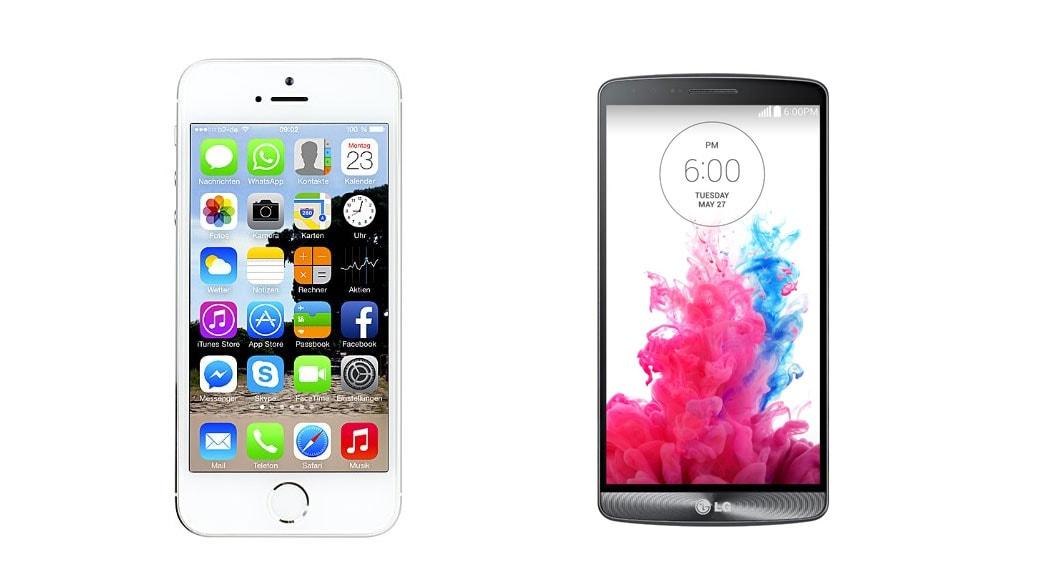08925d816ee Comparativa Smartphones: LG G3 vs iPhone 5S