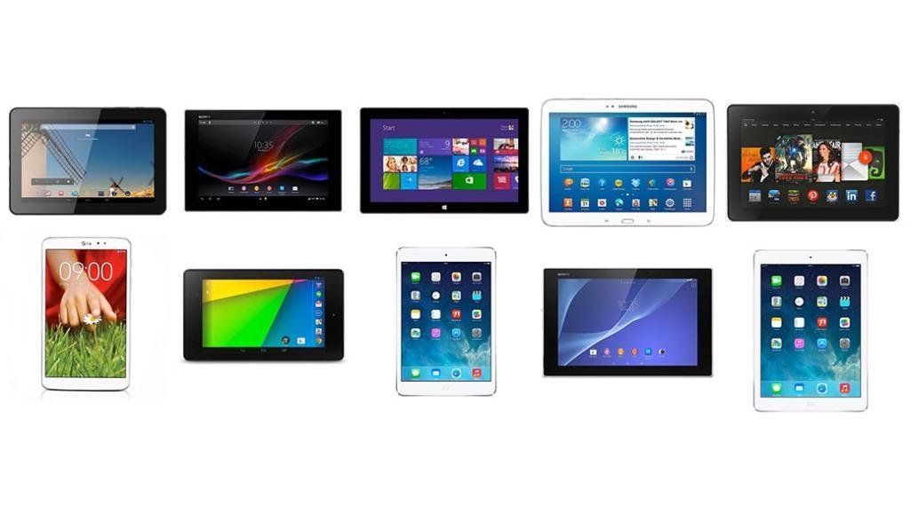 Los 10 mejores tablets de 2014: Comparativa
