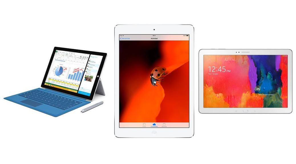 Surface Pro 3 vs iPad Air vs Galaxy Note Pro 12.2: Comparativa tablets
