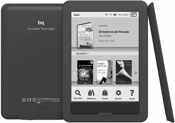 bq Cervantes Touch Light ereader