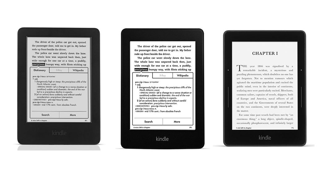 Kindle vs Kindle Paperwhite vs Kindle Voyage: Comparativa eReaders Amazon