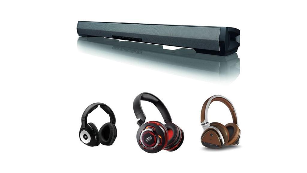 Auriculares y una barra de sonido en oferta en Amazon España