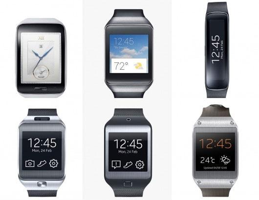 Samsung Gear S, Gear Live, Gear Fit, Gear 2, Gear 2 Neo, Galaxy Gear