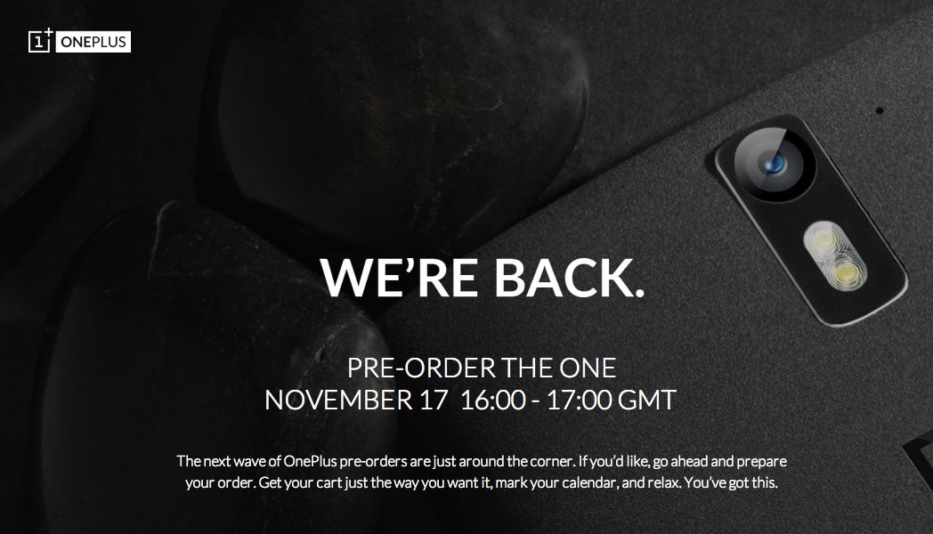 OnePlus One pre-order