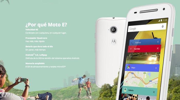 nuevo Motorola Moto E 4G 2015