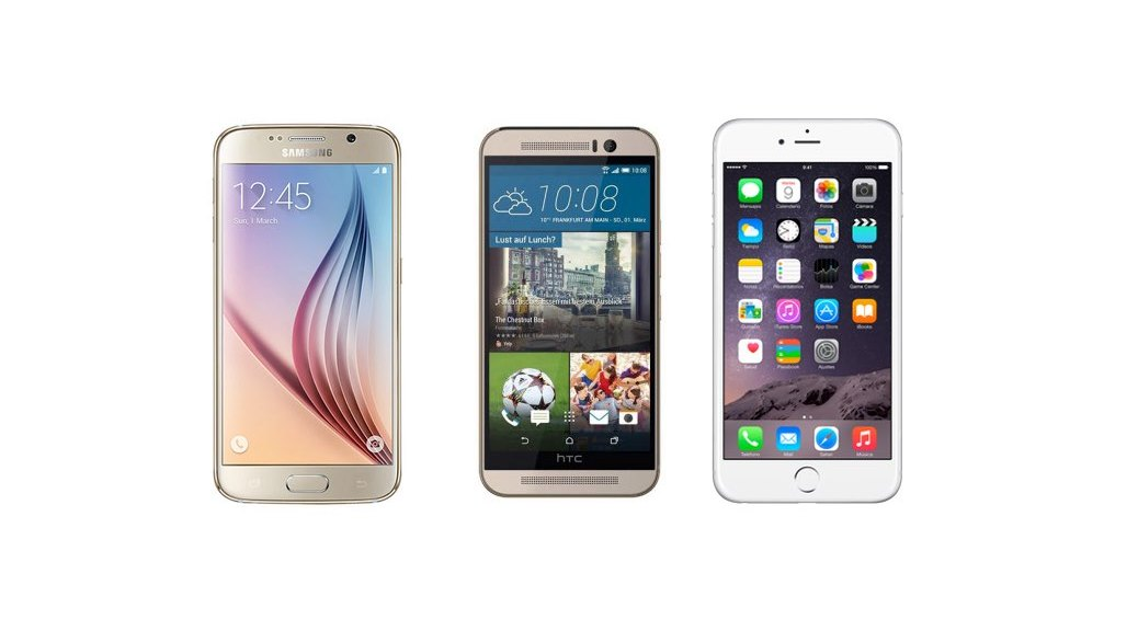 Htc One M9 Vs Samsung Galaxy S6 Vs Iphone 6 Comparativa