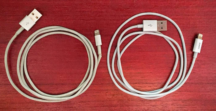Cable lightning Apple vs cable lightning Apple