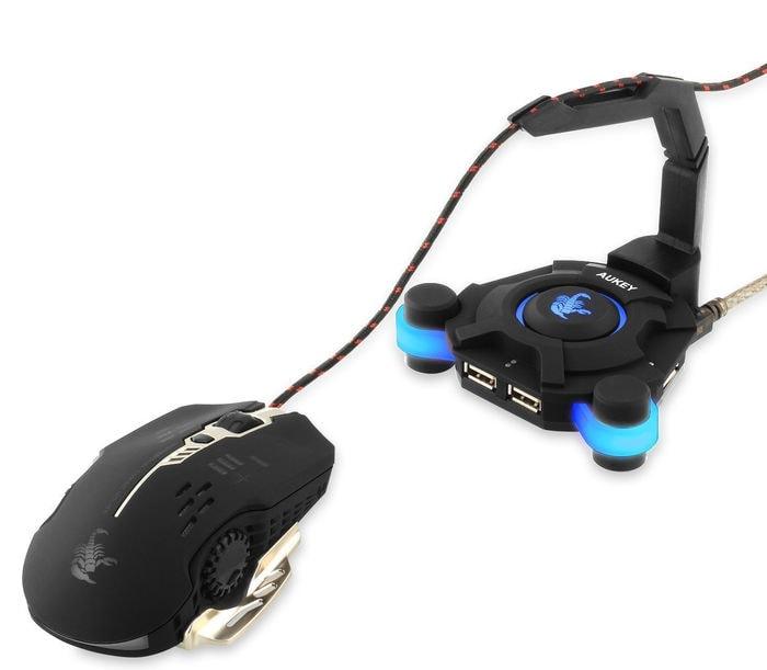 Aukey CB-G1 Gaming USB 2.0 Hub - opinión