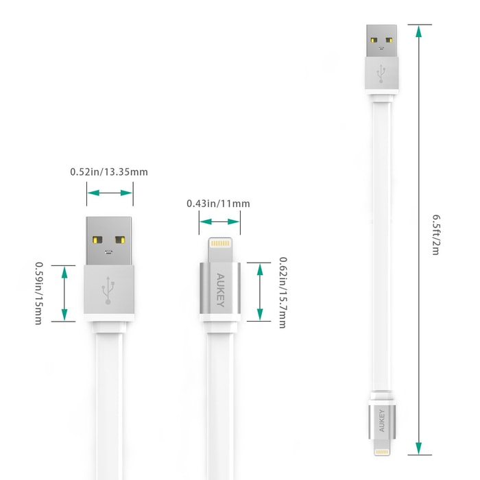 Aukey USB Sync & Charging Cable CB-D15 -Apple Lightning