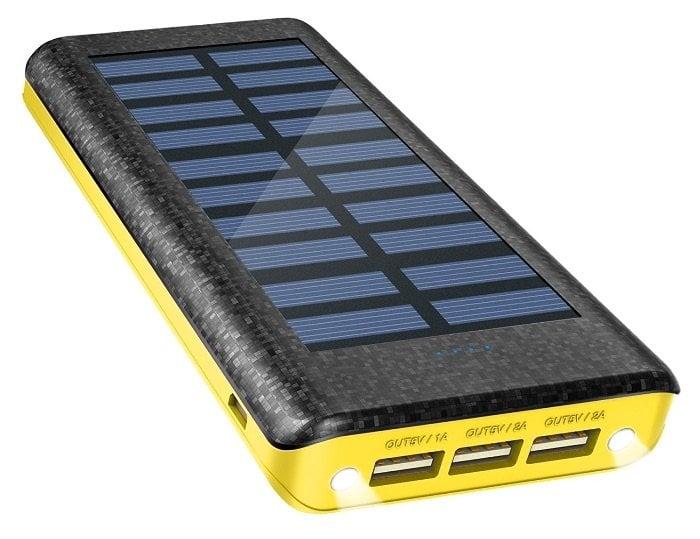 Batería Externa Power Bank de 24000mAh y Cargador Solar de OLEBR