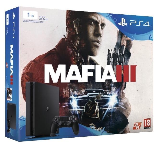¡Atención! PlayStation 4 Slim (PS4) de 1TB - Consola + videojuego Mafia 3 por menos de 300 euros