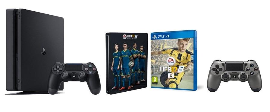 e8a3c674ccec1 ¡Oferta consolas y packs PlayStation 4 Slim y Play 4 Pro! PS4 con dos  mandos y packs con videojuegos