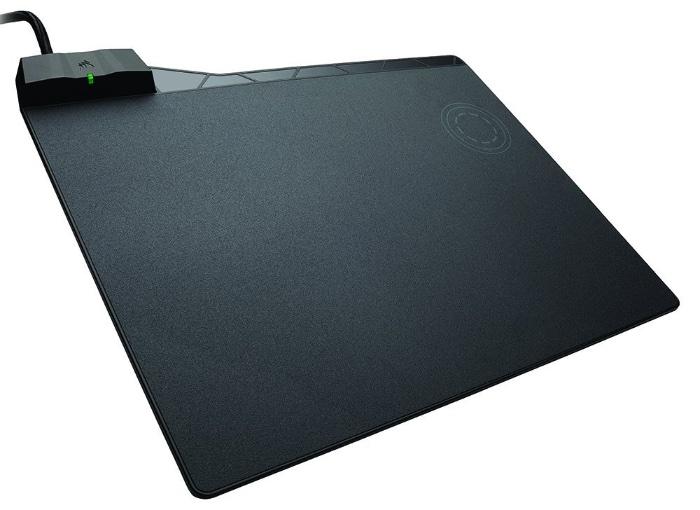 Corsair MM1000 Qi - Alfombrilla de ratón para juego (medio, superficie dura)
