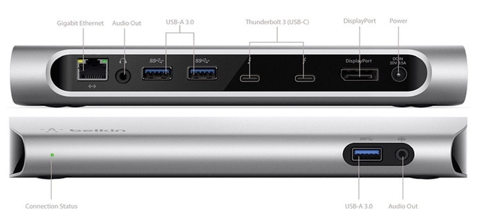 Belkin Thunderbolt 3 Express HD - Base dock para Mac