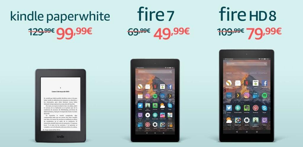 kindle y Fire en oferta por el Black Friday 2017