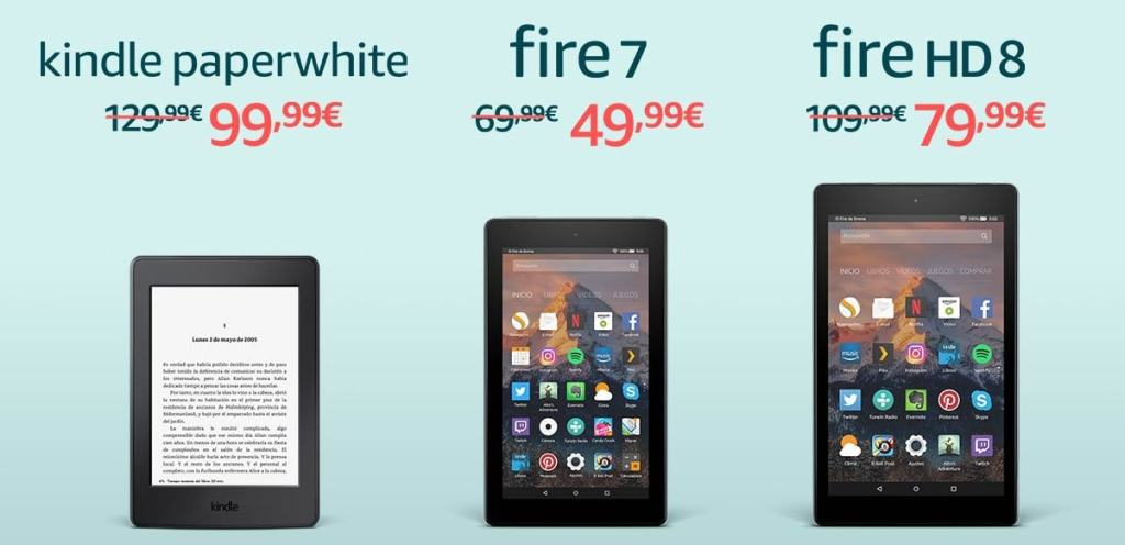 kindle y Fire en oferta por el Black Friday 2017