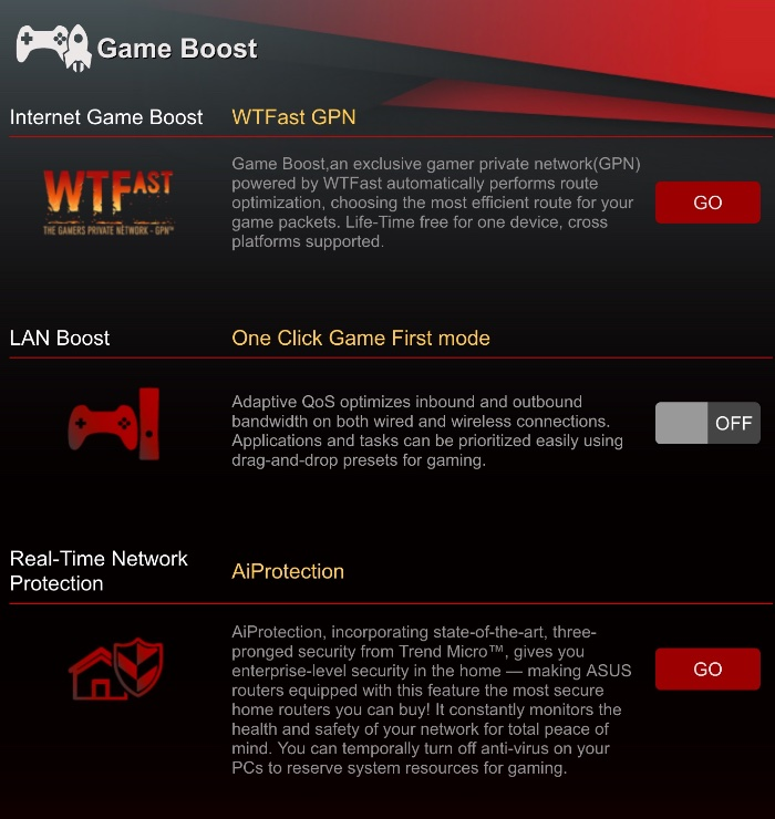 Gamers Private Network (GPN) de WTFast - Game Boost Asus Routers