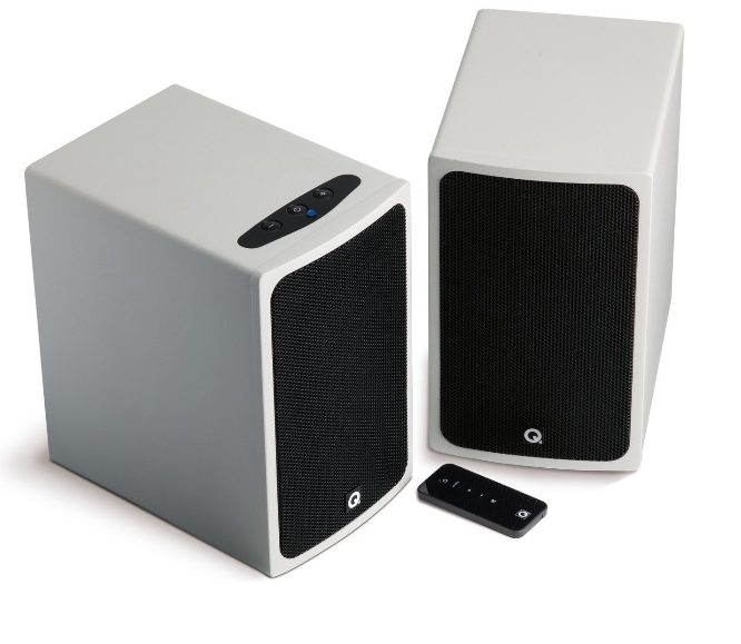Q Acoustics BT3 - Altavoces estéreo bluetooth