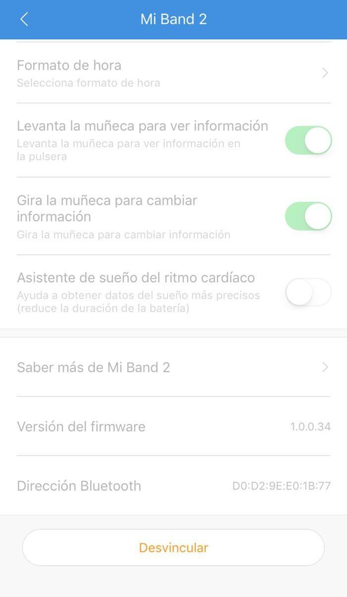 Xiaomi mi Band 3 instrucciones configuración 2