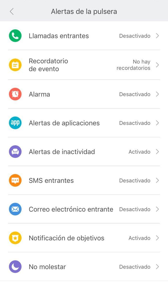 Xiaomi mi Band 3 instrucciones configuración 9