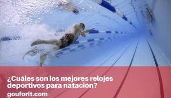 Los mejores relojes deportivos para natación