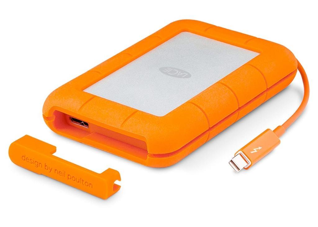 LaCie - Rugged 1 TB Thunderbolt + USB 3.0, Portátil, 2,5' Disco Duro Externo para Mac y PC