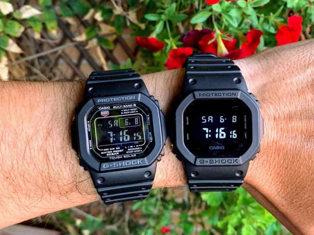 Pantalla negativa en: Casio G-Shock DW-5600BB-1ER y Casio G-Shock GW-M5610-1BER