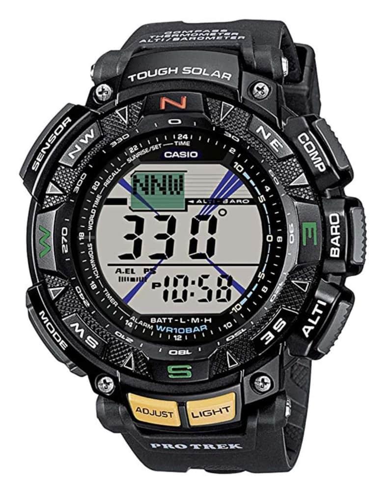 Casio PRG-240-1ER Pro Trek: reloj táctico con brújula, altímetro, barómetro, termómetro y carga solar