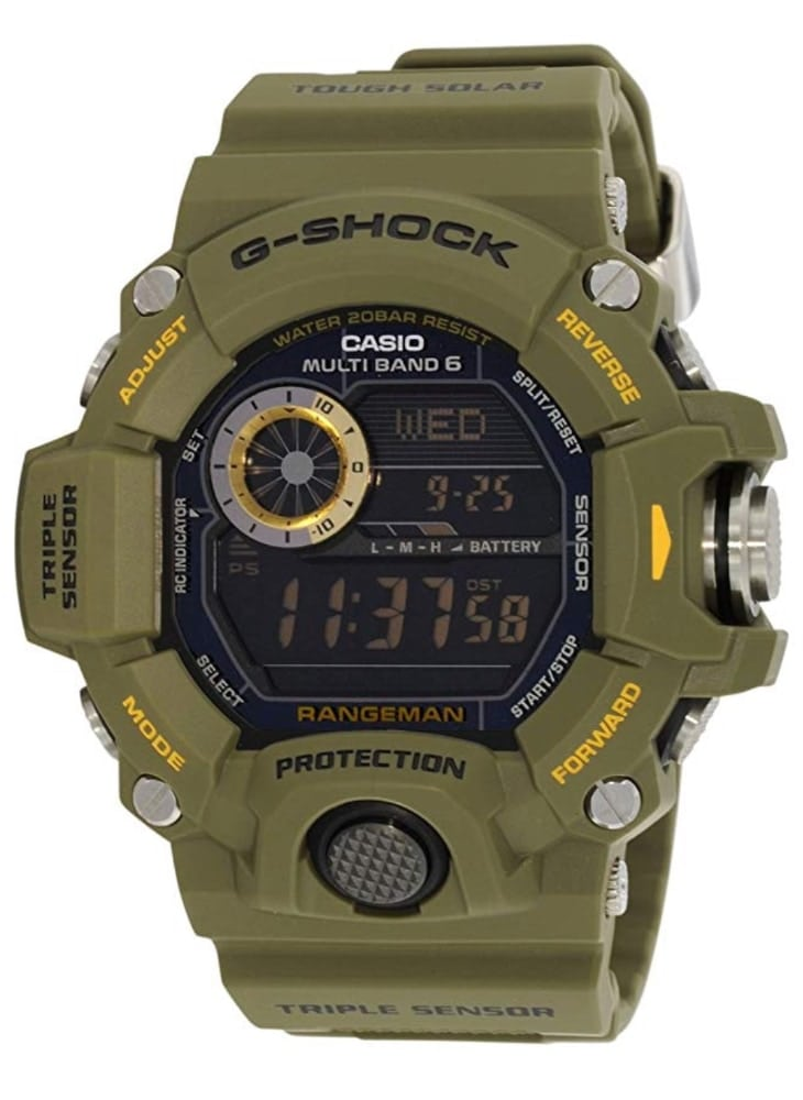 Casio G-Shock GW-9400-3ER Rangeman: diseño militar con Triple Sensor (ABC)