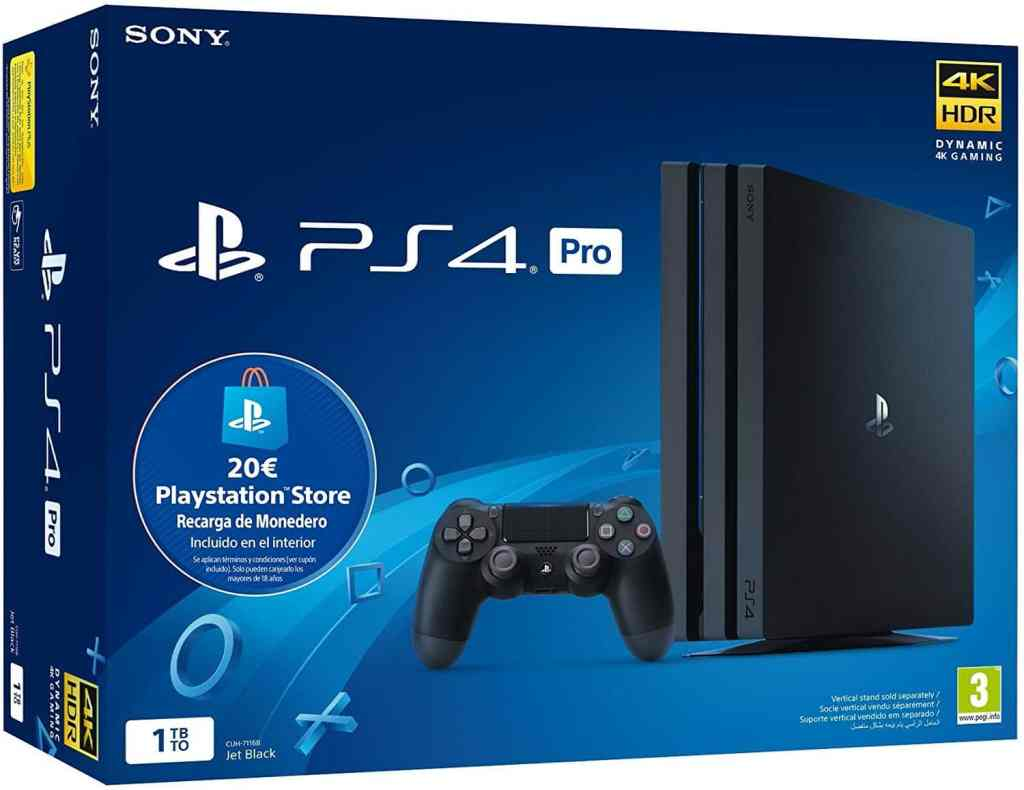 Playstation 4 Pro (PS4) - Consola de 1TB + 20 euros Tarjeta Prepago