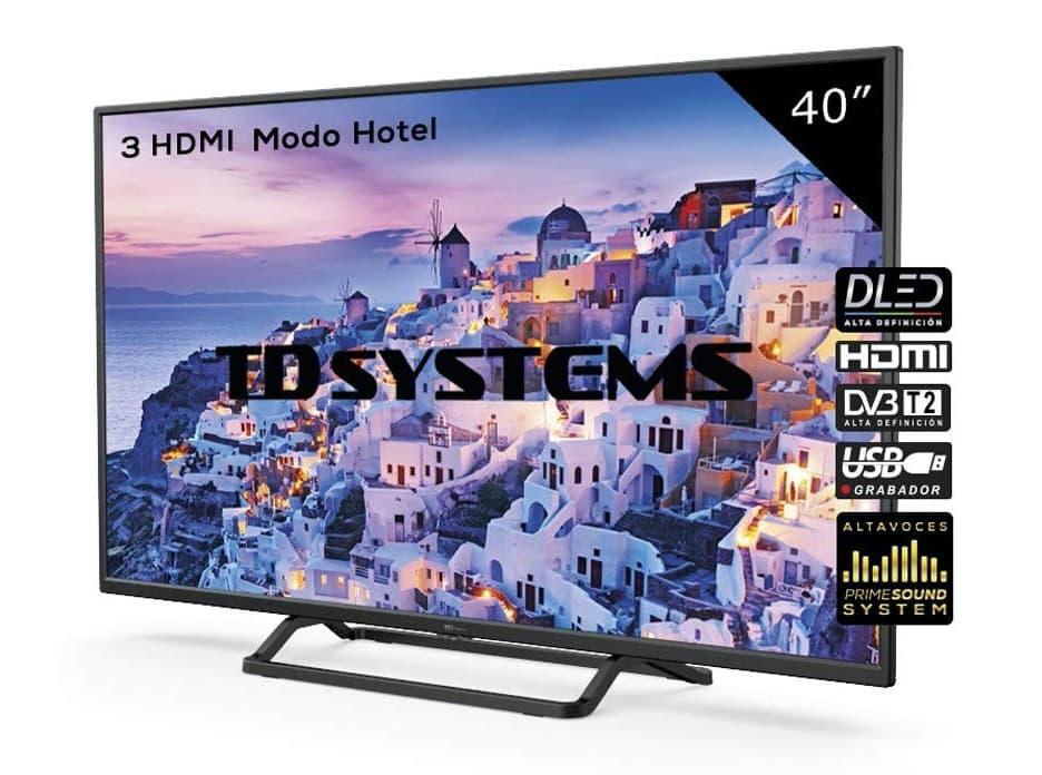 Televisor Led 40 Pulgadas Full HD, TD Systems K40DLX9F