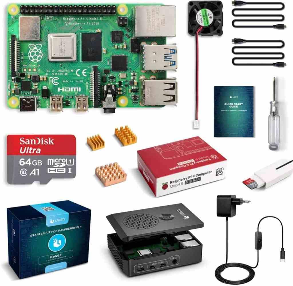 LABISTS Raspberry Pi 4 Model B Kit de 4 GB con SD de 64GB Clase 10