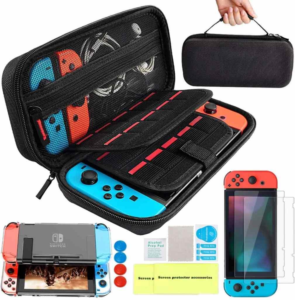 14 accesorios en 1 para para Nintendo Switch: funda, protector de pantalla...