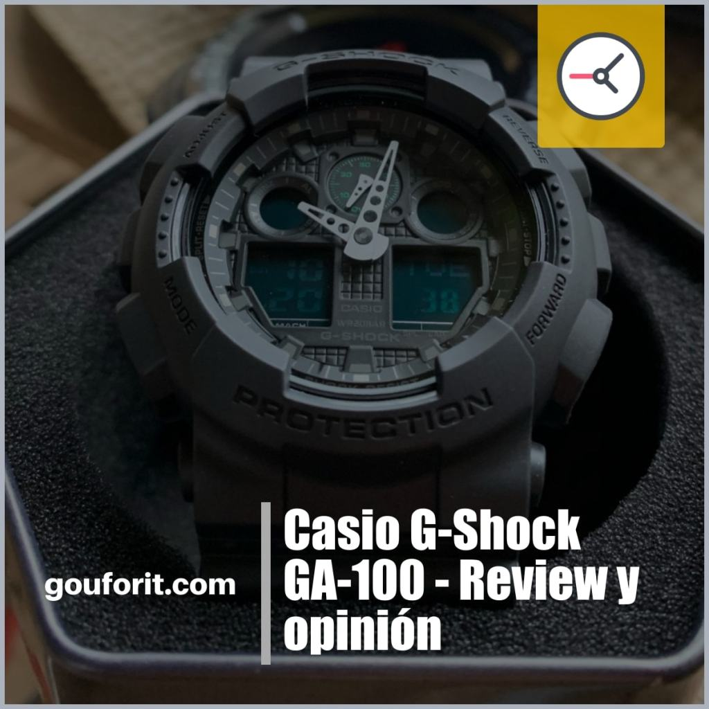Casio G-Shock GA-100 - Review y opinión