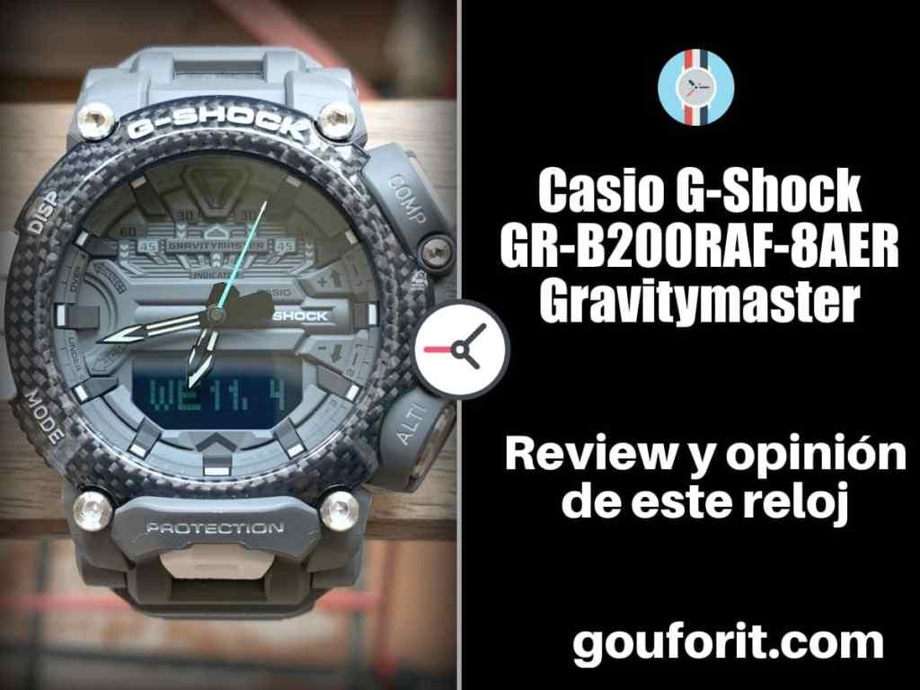 Casio G-Shock GR-B200 Gravitymaster - Opinión y review de este reloj para pilotos