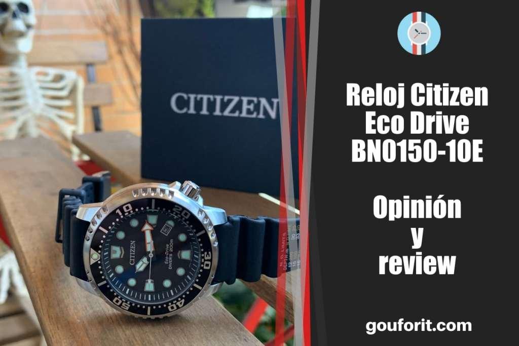 Reloj Citizen Eco Drive BN0150-10E - opinión y review