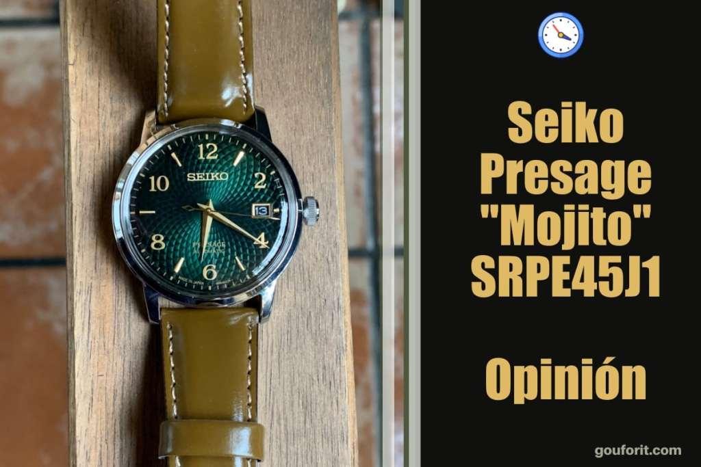 "Seiko Presage ""Mojito"" SRPE45J1 Cocktail Time - Opinión y review"