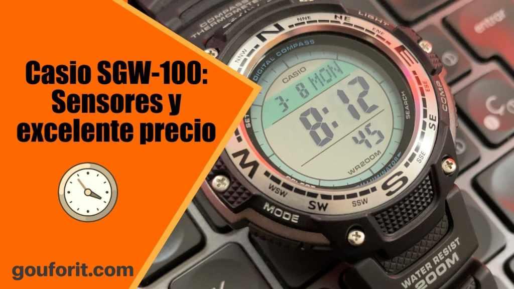 Casio SGW-100: el mejor reloj con sensores por calidad precio - Opinión