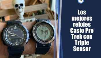 Los mejores relojes Casio Pro Trek con Triple Sensor: relojes para alpinismo, trekking