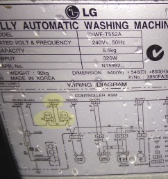 as whitegoods often are still worth repairing lg provided a helpful schematic on the rear to help us understand just how the parts of the machine are  [ 2560 x 2037 Pixel ]