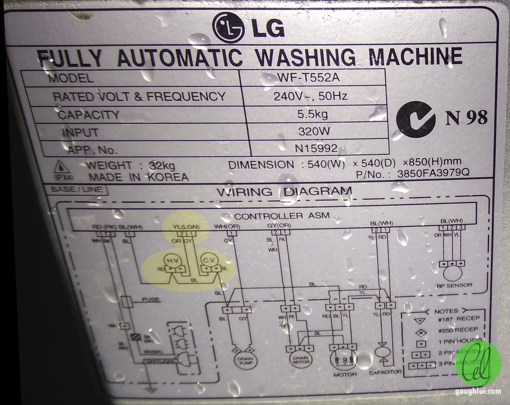 hight resolution of as whitegoods often are still worth repairing lg provided a helpful schematic on the rear to help us understand just how the parts of the machine are